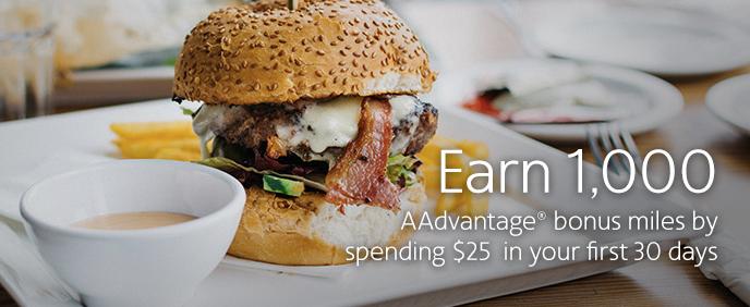 american aadvantage dining intro bonus