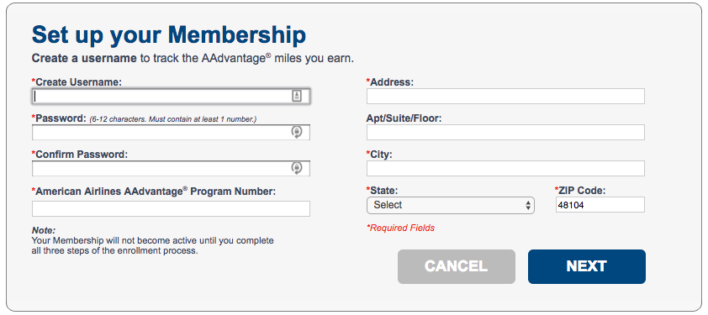 american aadvantage dining sign up 2