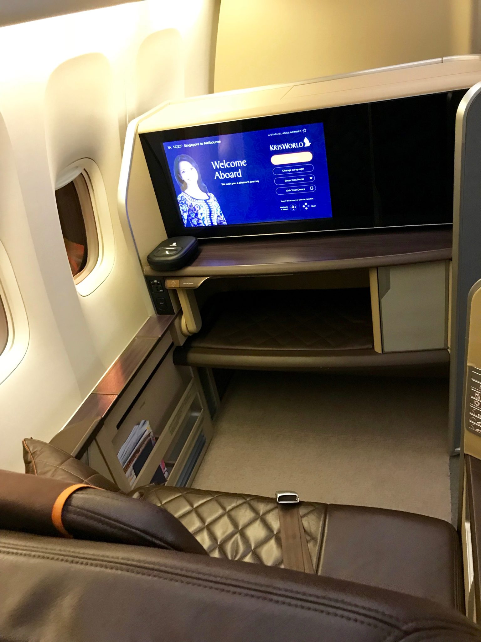 Singapore Airlines First Class 777