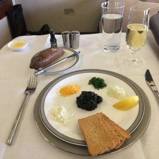 Singapore Airlines Suites Caviar