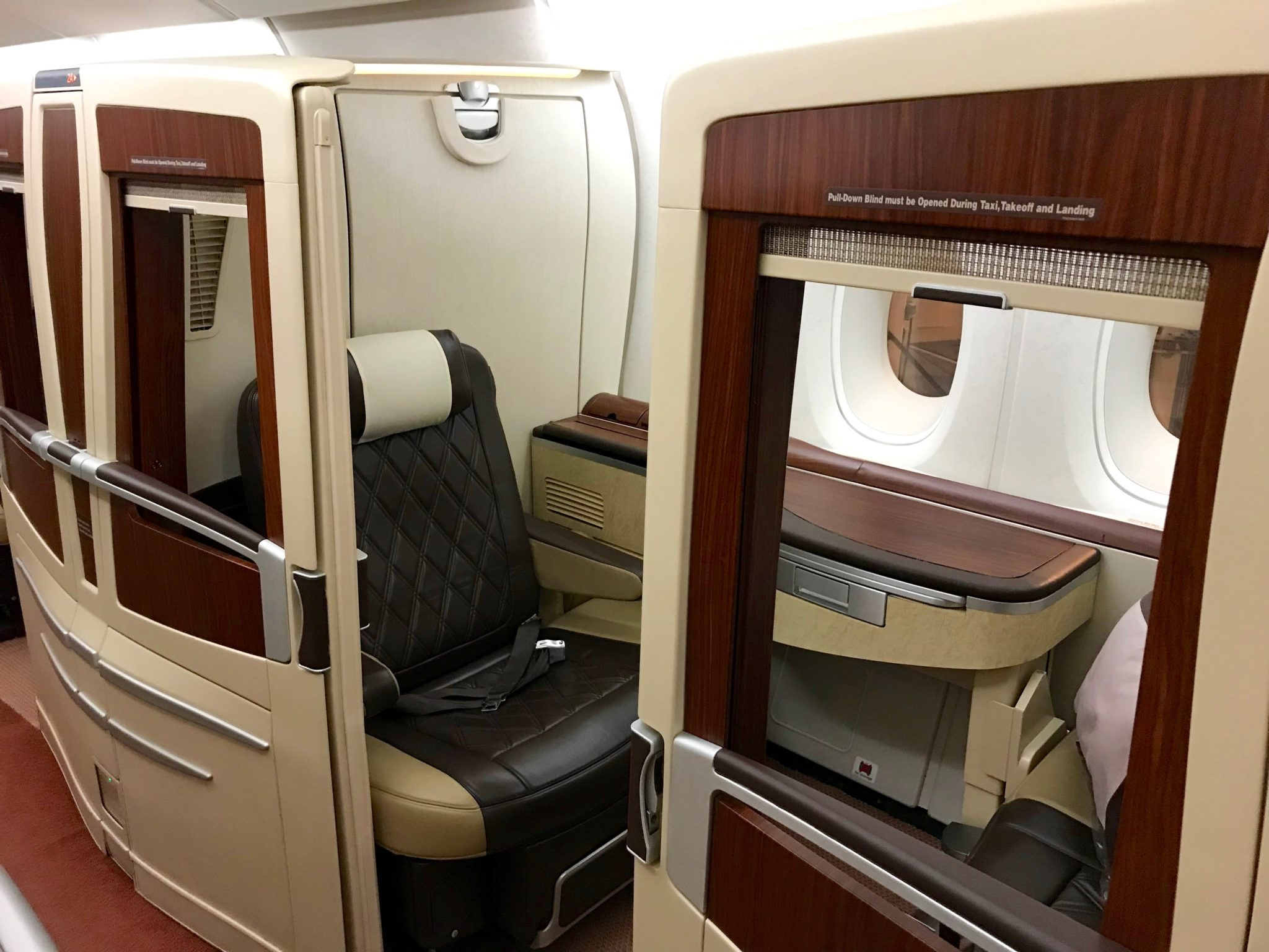 Singapore Suites First Class - Suite Seat