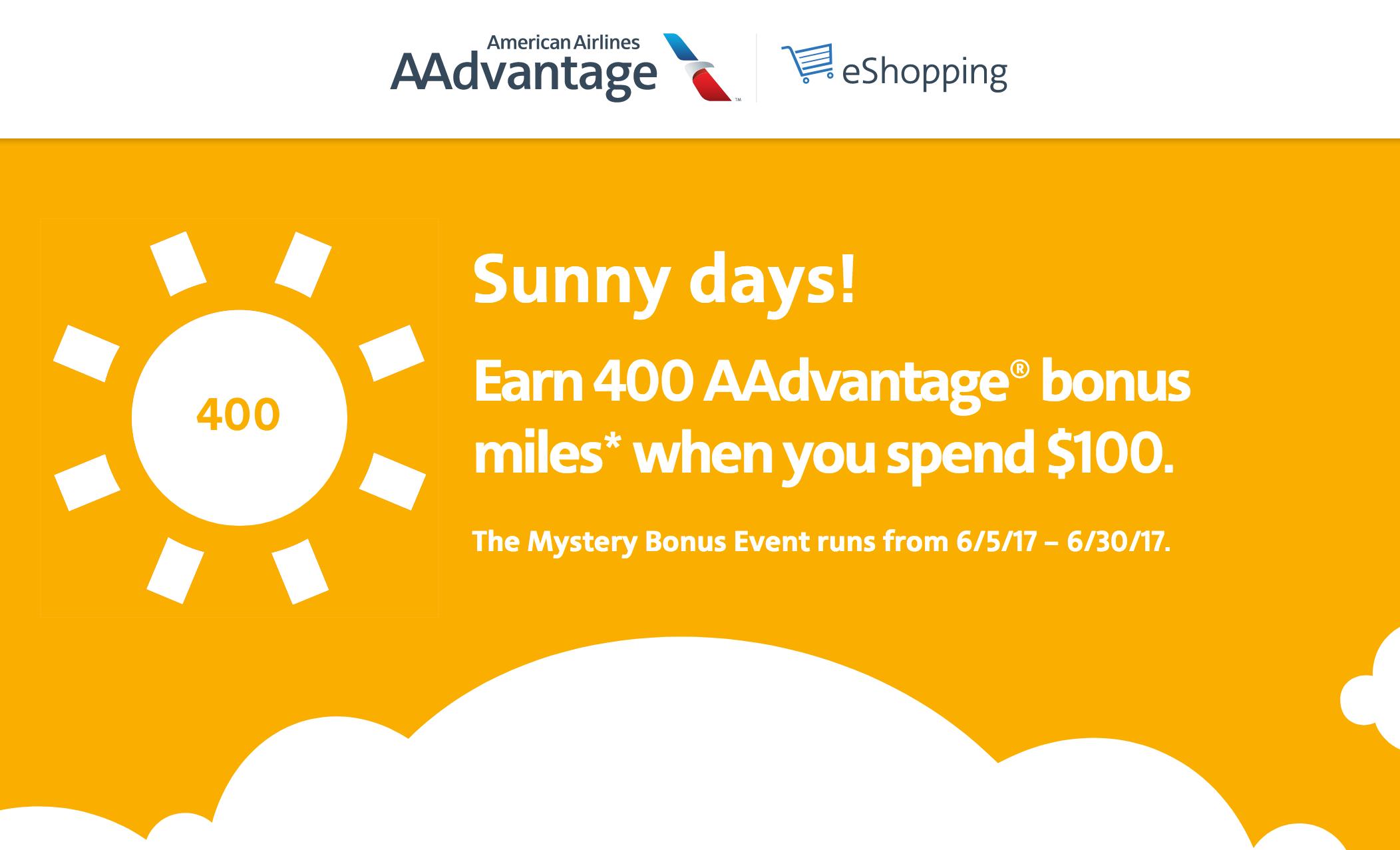 AAdvantage eShopping Mystery Bonus