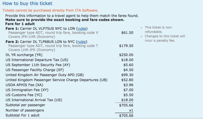 Airfare Taxes And Fees