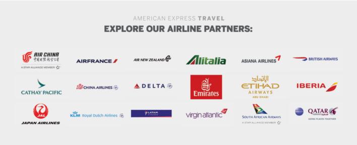 American Express International Airline Program Partners