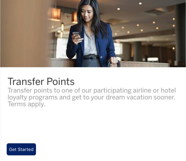American Express Membership Rewards Transfer Step 2