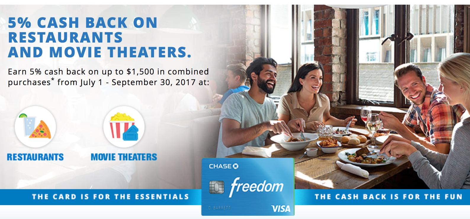 Chase Freedom Q3 Bonus