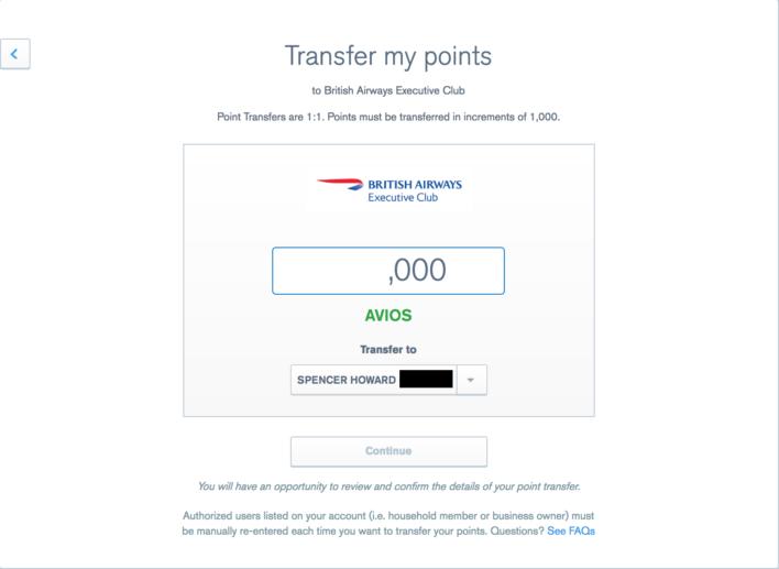 Chase Ultimate Rewards Transfer Amount