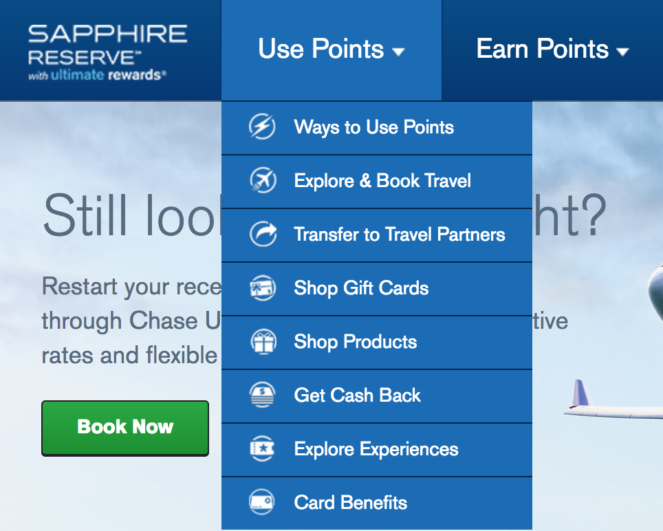 Chase-Ultimate Rewards Transfer Step 1