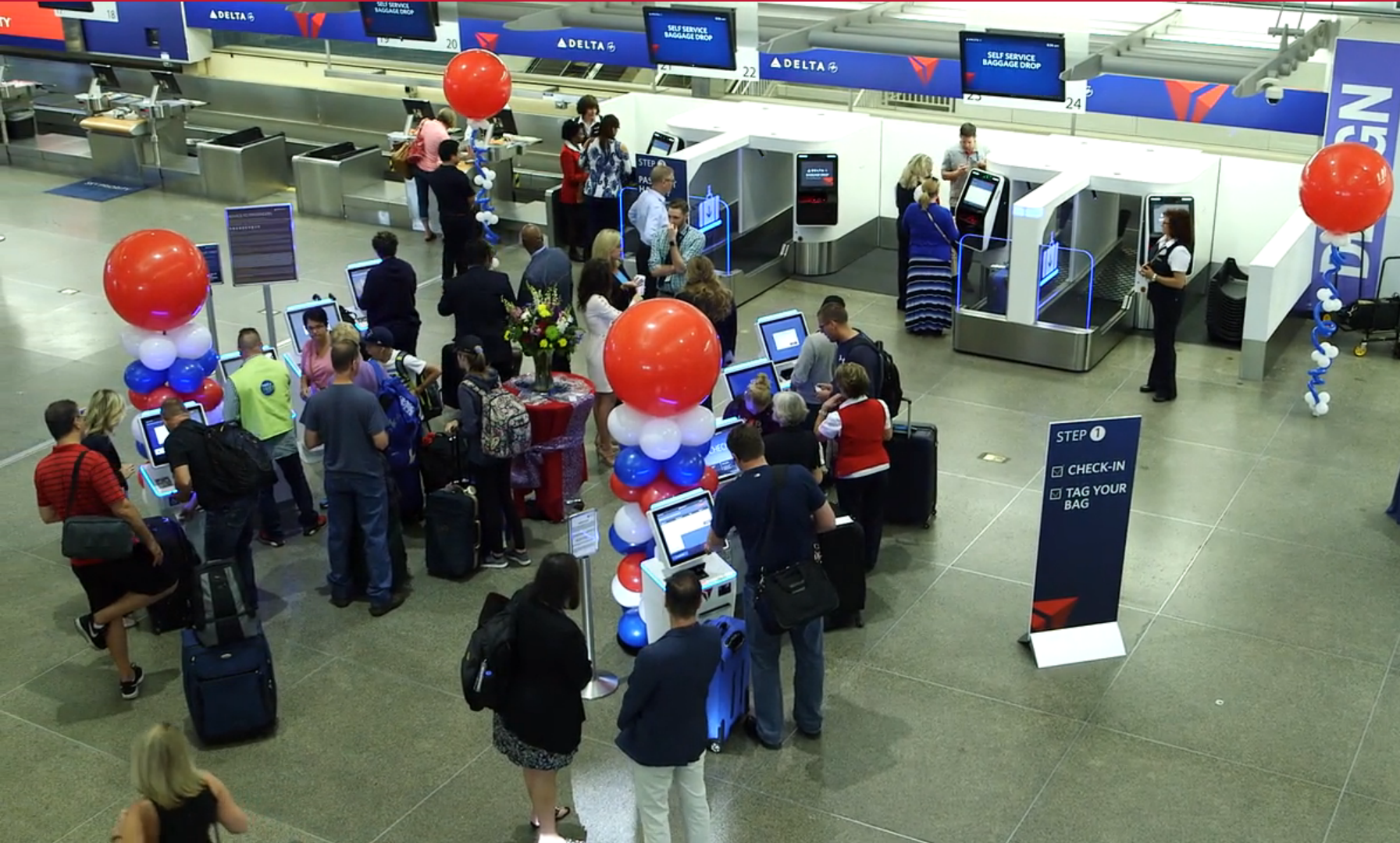 Delta Self Service Baggage Drop