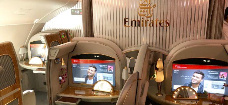 Emirates First Class A380 - First Class Cabin