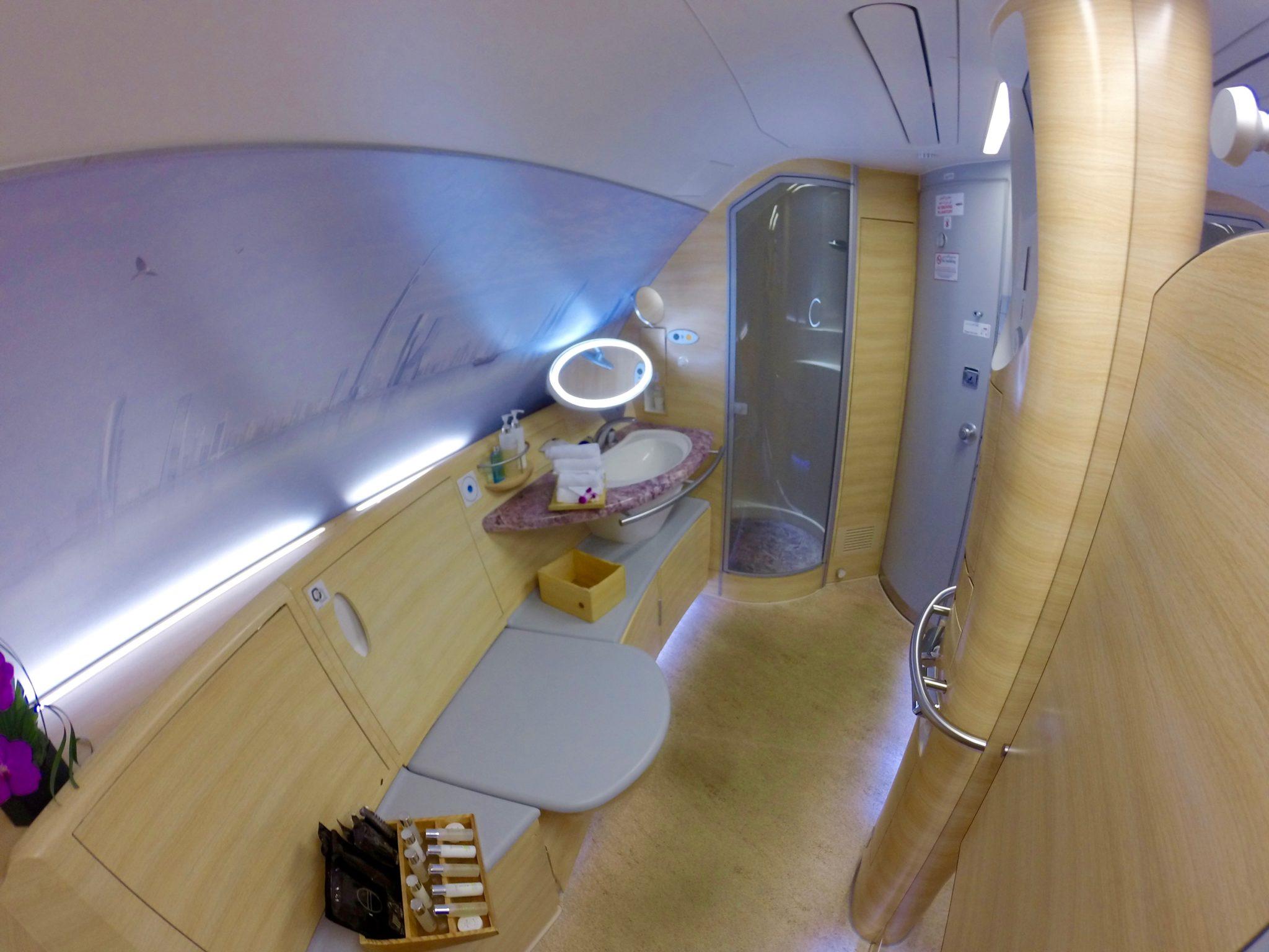 Emirates First Class A380 - Onboard Shower