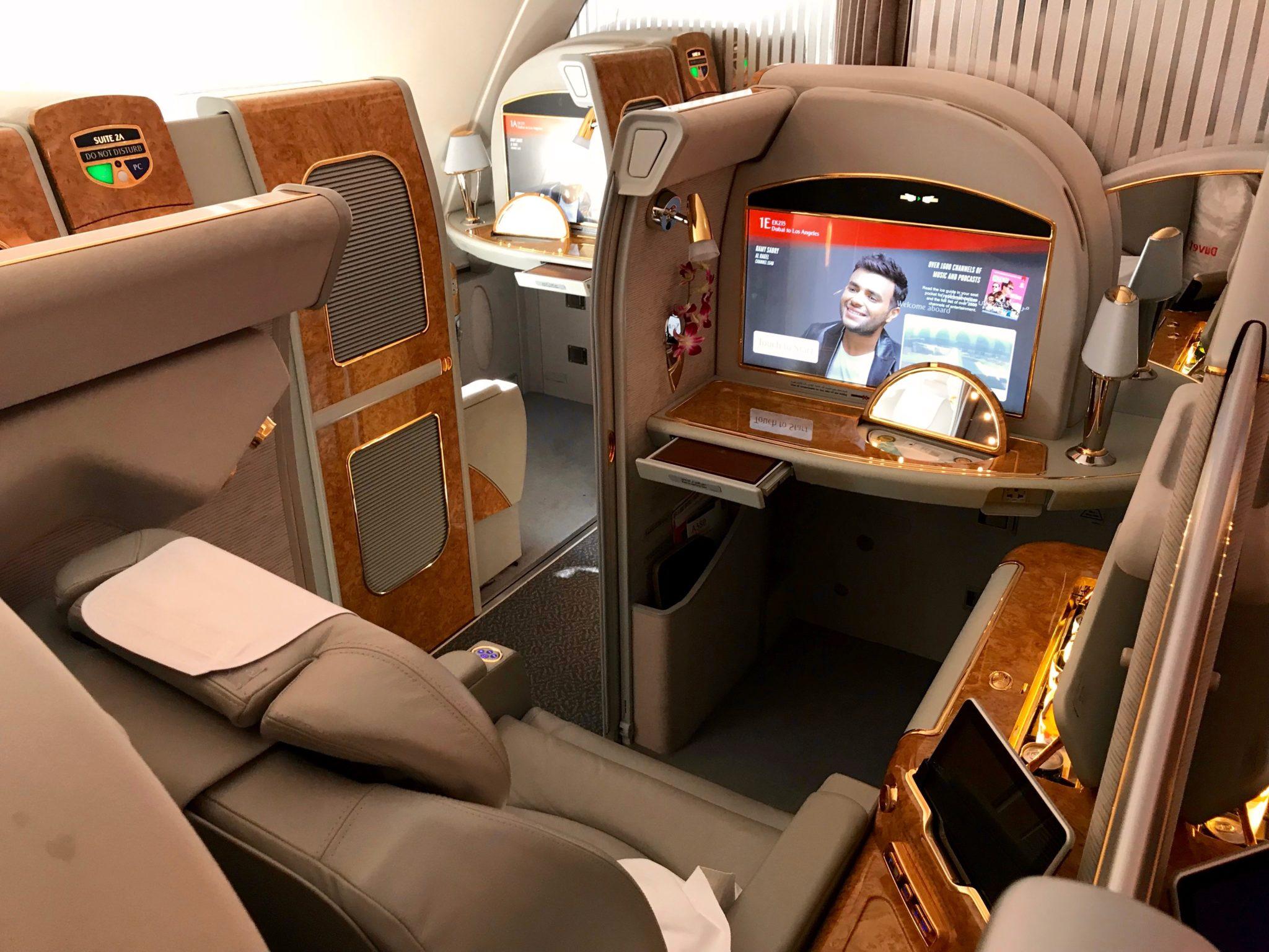 Emirates First Class A380 - Seat 1E