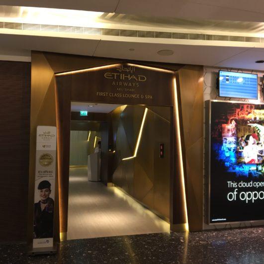 Etihad First Class Lounge & Spa Entrance