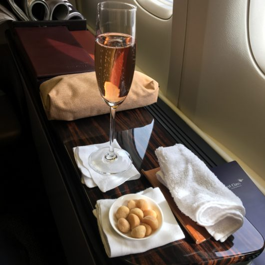 Garuda Indonesia First Class Champagne