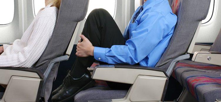 No Legroom Airplane Seat