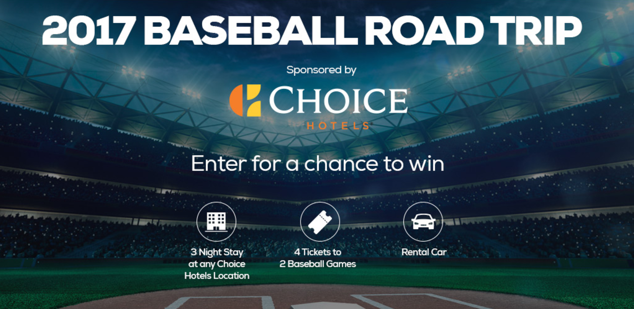 Choice Hotels Baseball Road Trip Sweepstakes