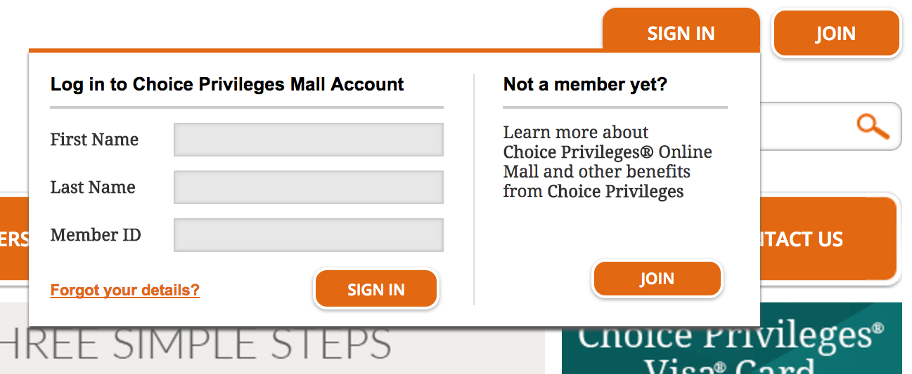 Choice Hotels Shopping Portal