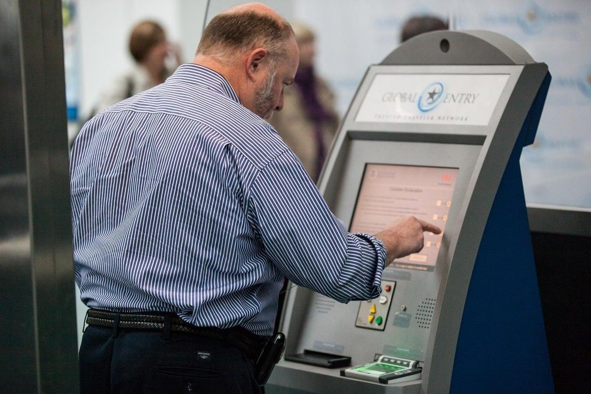 Global Entry Kiosk at Newark Liberty International