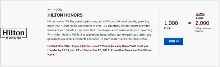 Hilton Honors Promo Rate