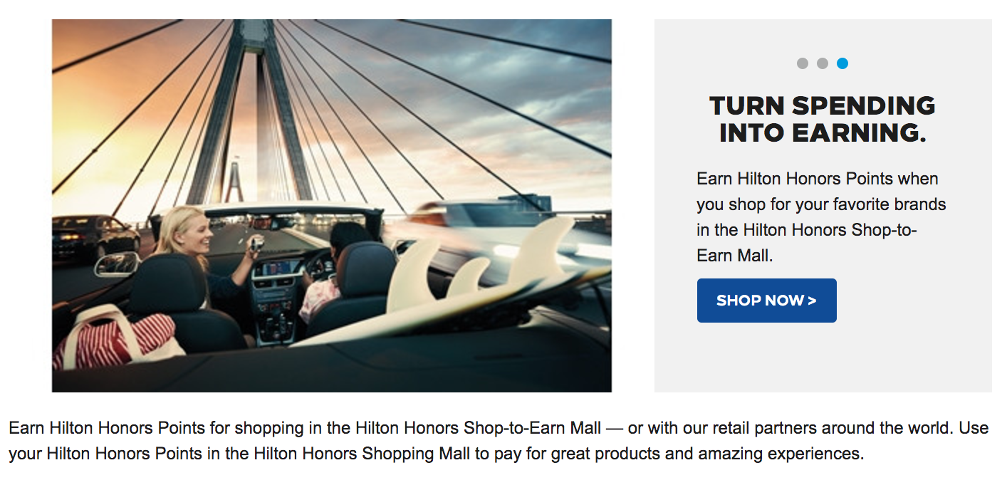 Hilton Honors Shop-to-Earn Mall
