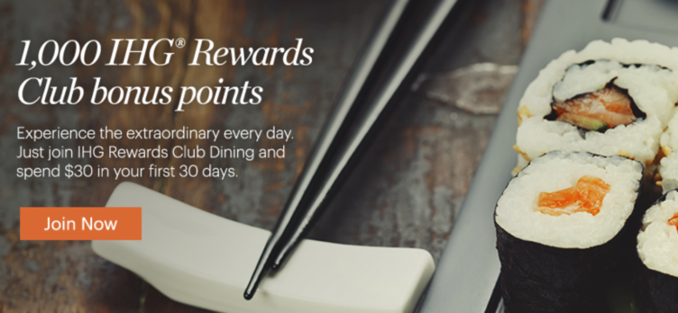 IHG Rewards Club Dining Program
