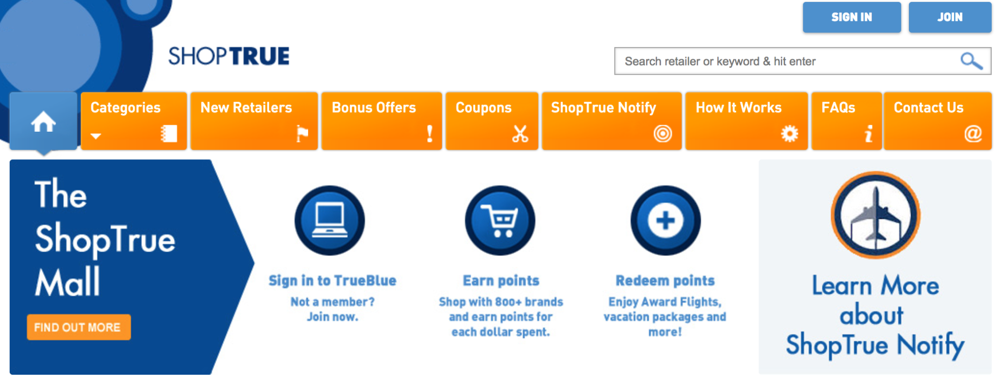 JetBlue ShopTrue Shopping Portal