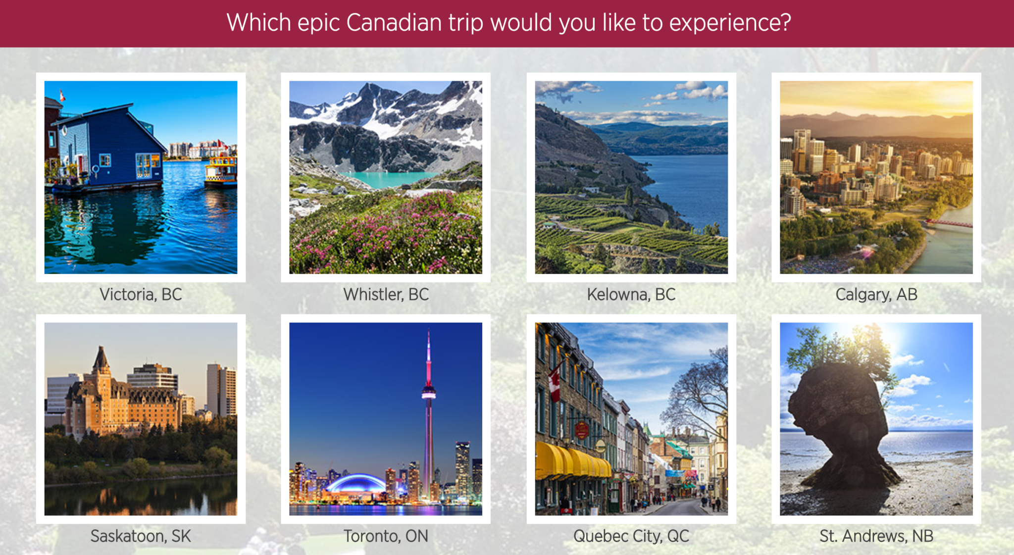 Mariott Epic Canada Sweepstakes