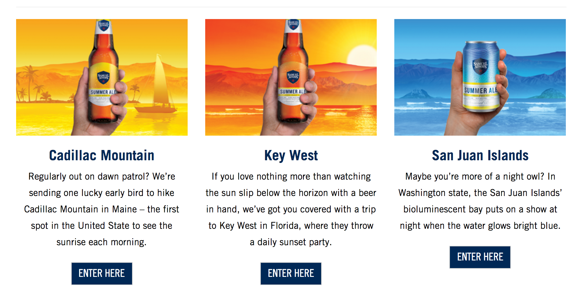 Sam Adams Take Me With You Sweepstakes
