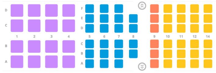 Primera Air A321neo seat map