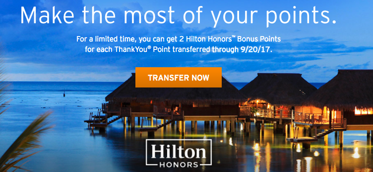Thank You Points Hilton Promo