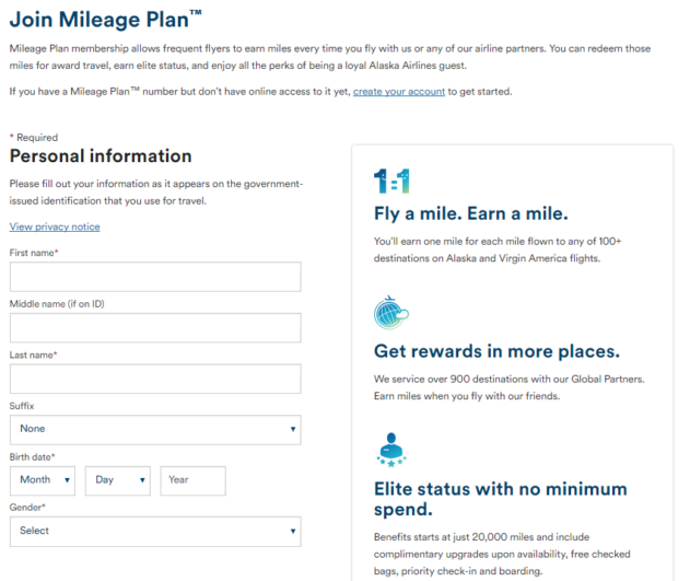 Alaska Airlines Join Mileage Plan
