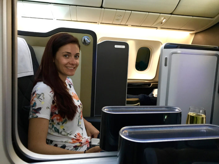 British Airways First Class 787-9 Middle Seat