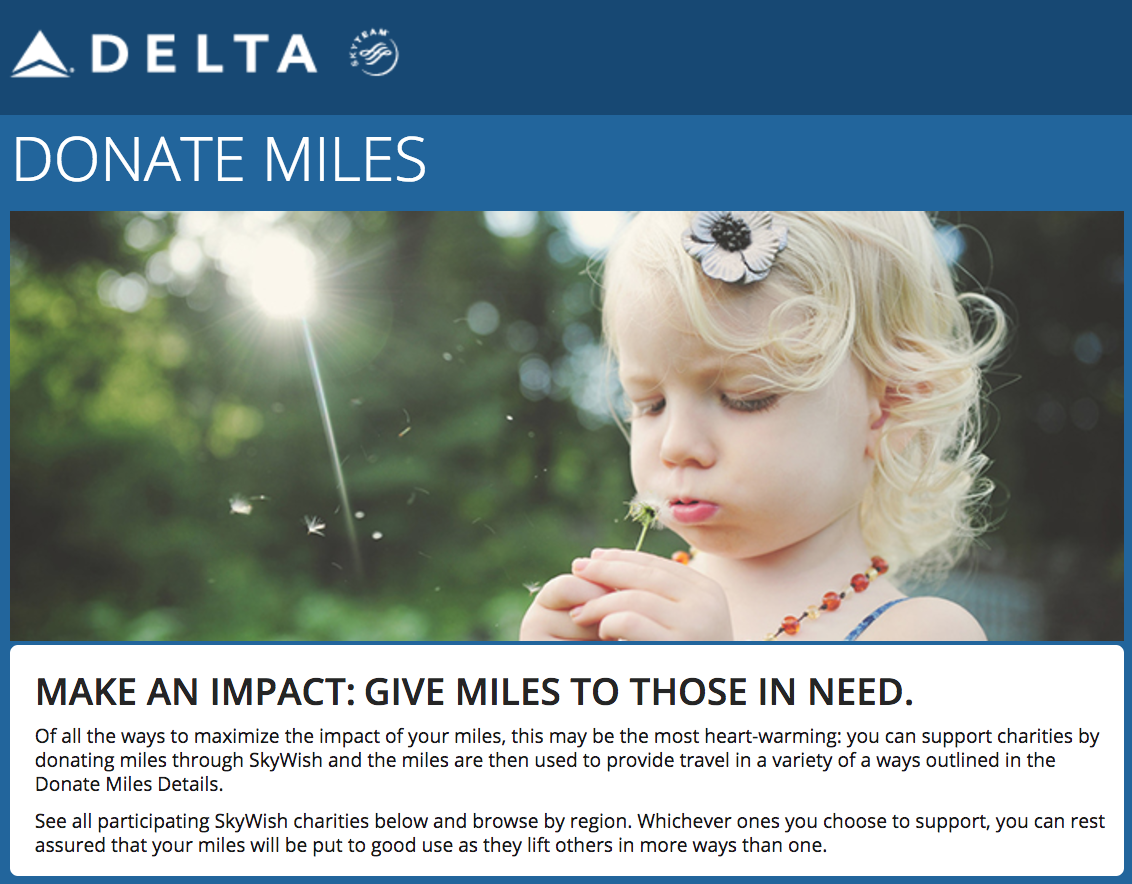 Delta SkyWish, Hurricane Harvey Relief Efforts