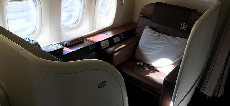 Japan Airlines First Class Seat