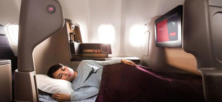 Qantas Business Class Boeing 787-9 Bed
