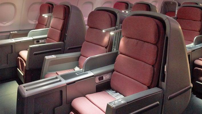 Qantas Business Class Cabin Airbus A380