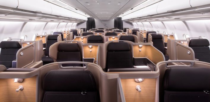 Qantas Business Class Cabin Boeing 787-9