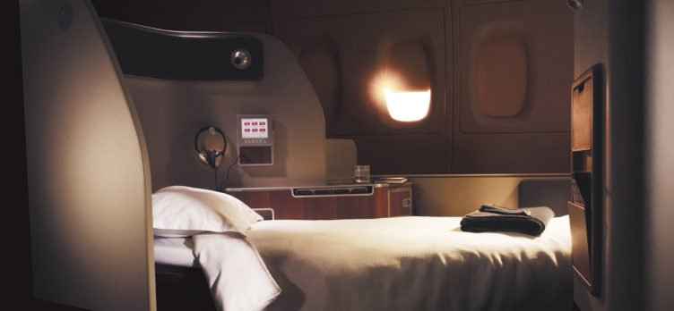 Qantas First Class Bed