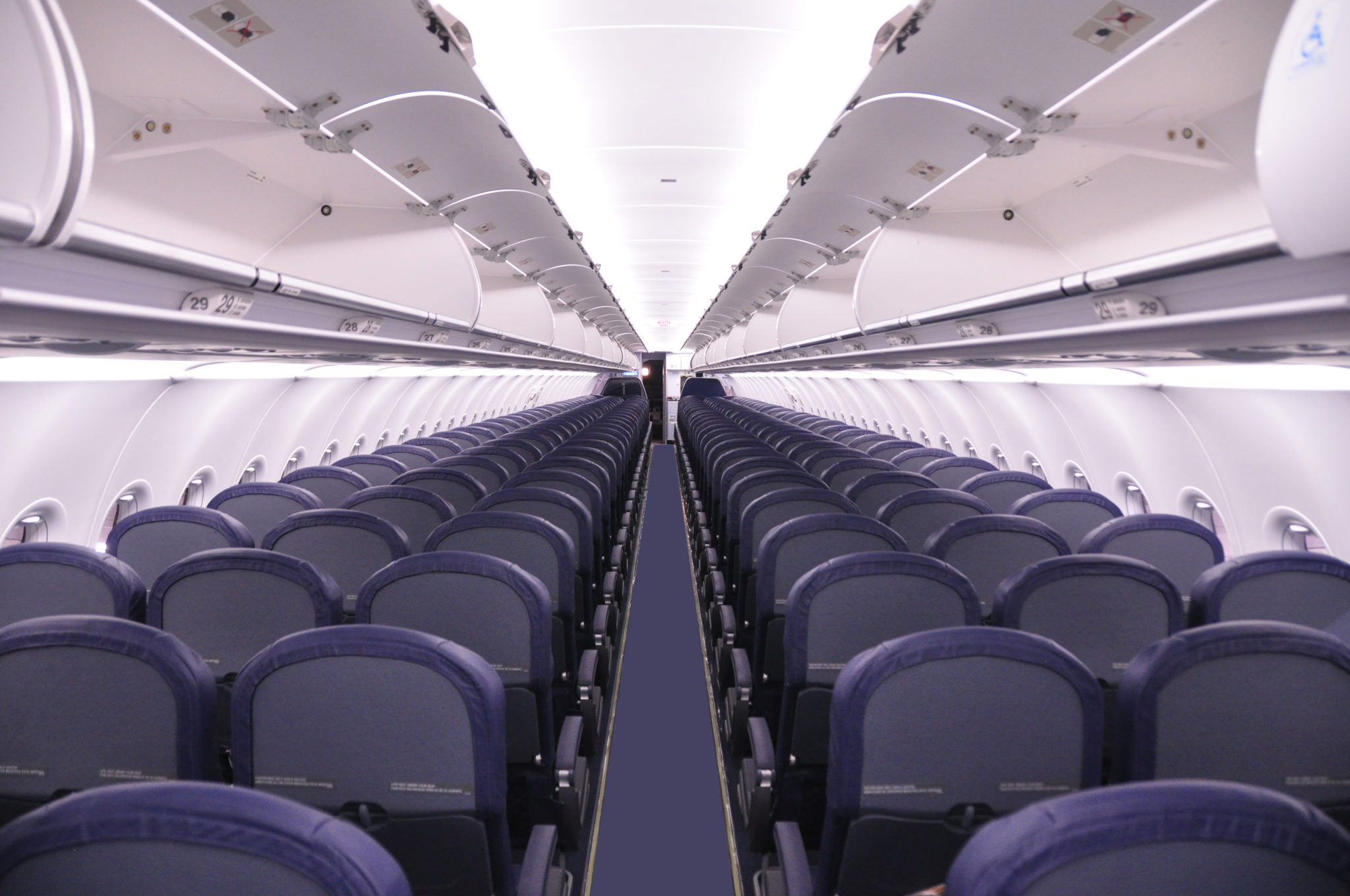 Spirit Airlines A320 Cabin Interior