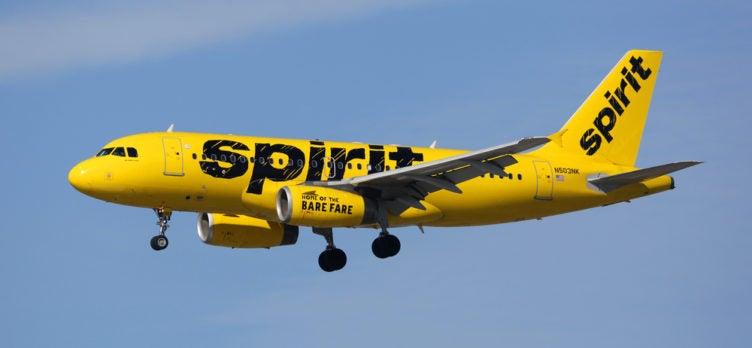 Spirit Airlines Plane In Flight