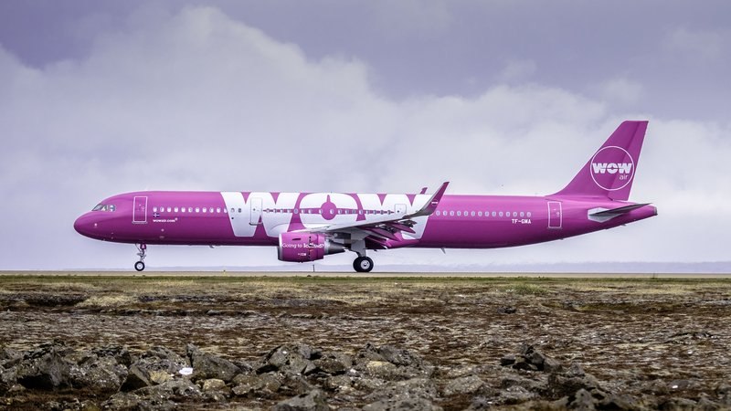 Wow Air Airplane Livery