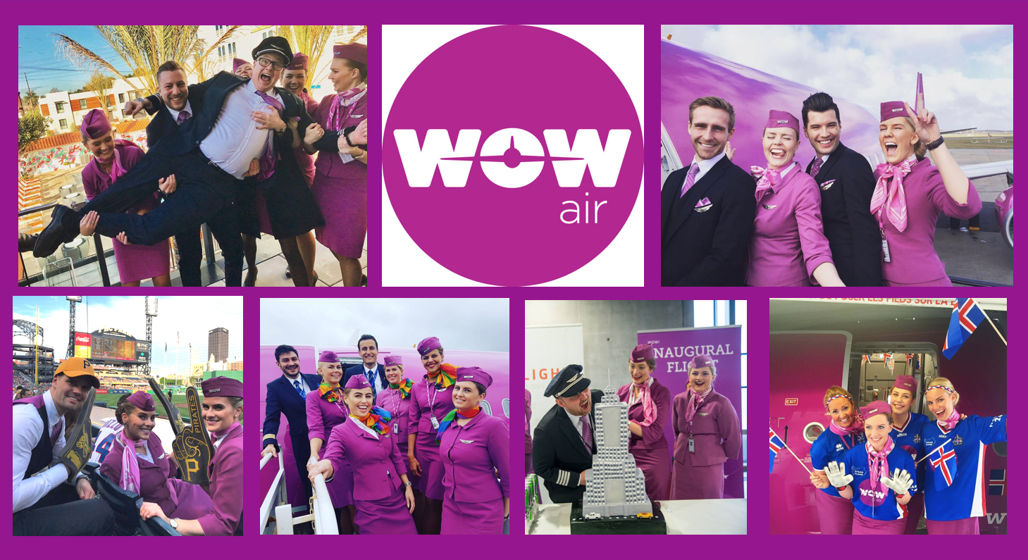 Wow Airlines Employees Having Fun!