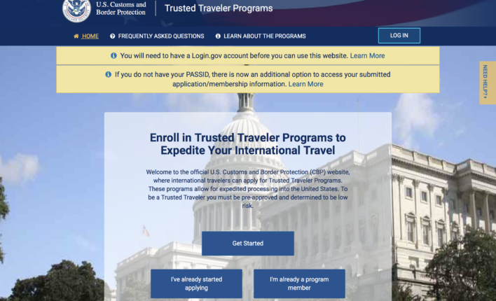 Trusted Traveler Programs TPP Home Page