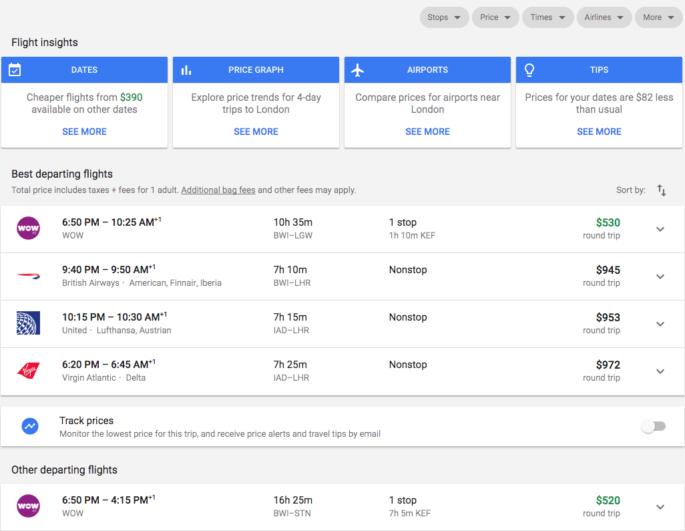 Google Best Flights