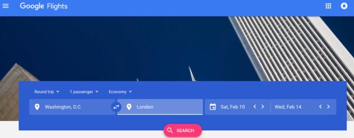 Google Flights Home