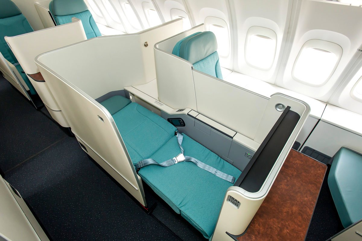 korean air business class bed