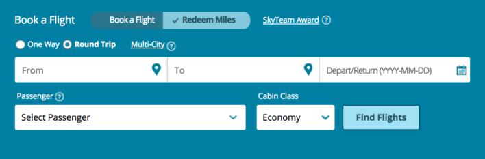 Korean Air SkyTeam Award Search