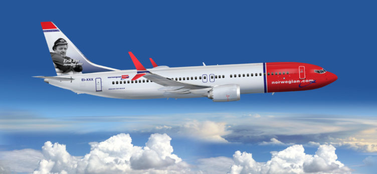 Norwegian 737 Max8 Airplane