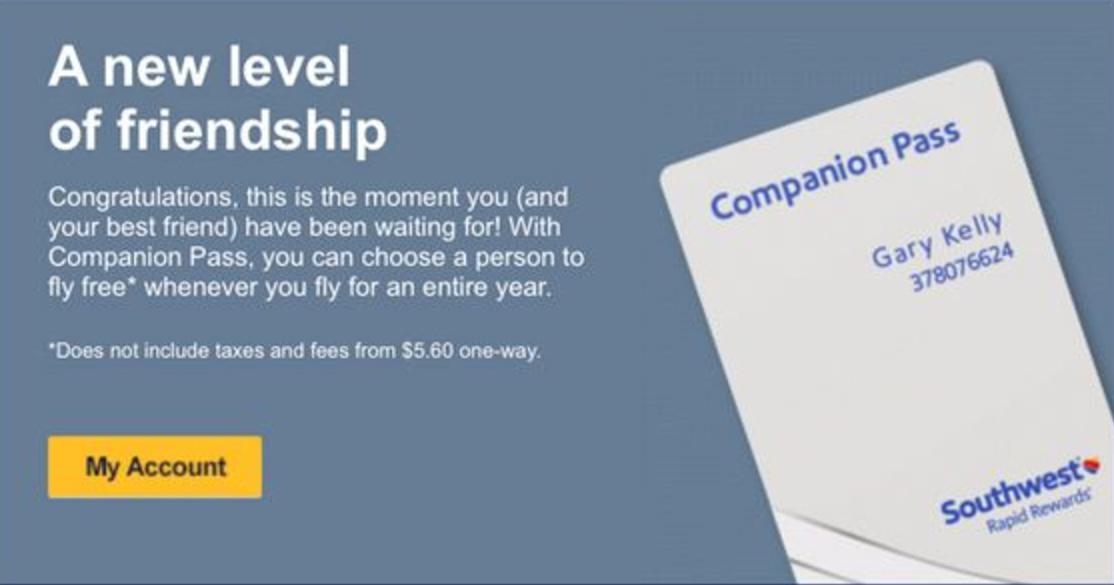 Southwest Companion Pass