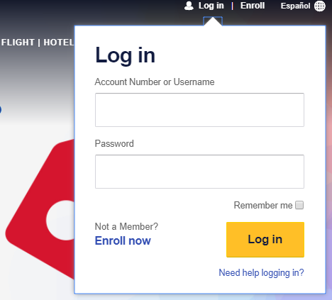 Southwest Log In Rapid Rewards